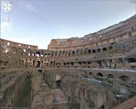 Street View Mibac Colosseo Google tour virtuale