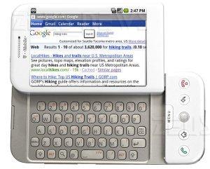 Google futuro di Android Cupcake tastiera virtuale