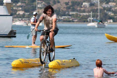 Judah Schiller Water Bike Across San Francisco 6
