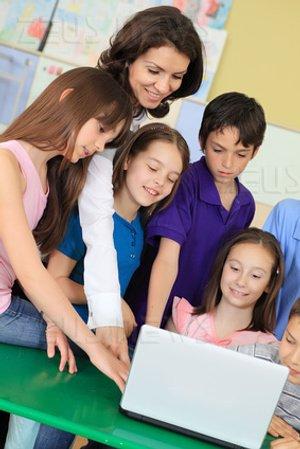 Insegnanti Edu-Tech computer a scuola