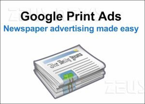 Google chiude Print Ads pubblicità sui quotidiani