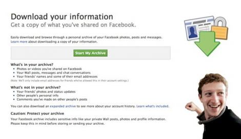 download your information