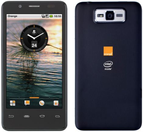 intel orange smartphone medfield atom