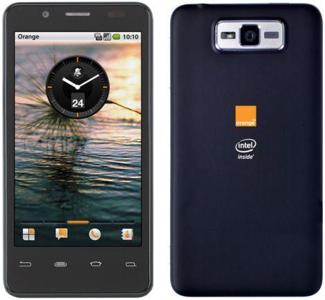 intel orange smartphone medfield atom
