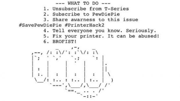 printer hackers pewdiepie