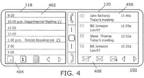 blackberry dual screen patent