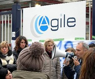 Agile Eutelia commissariamento Mediaset fibra otti