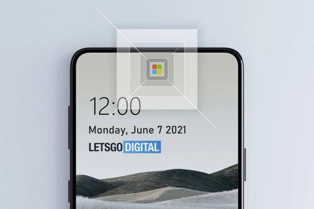 microsoft fotocamera sotto schermo logo windows