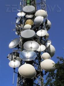 Antenne di un'azienda telefonica sulla collina di