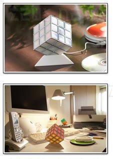 Lo speaker a forma di cubo di Rubik.