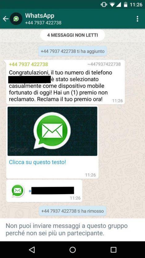 whatsapp sicurezza