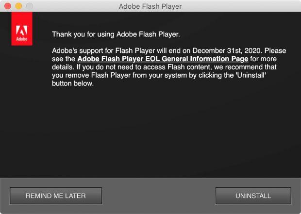adobe flash dead