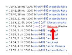 Particolare della schermata di wikipedia