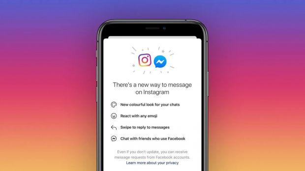 instagram facebook chat fusione