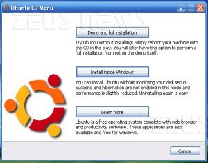 Ubuntu 8.04 convive facilmente con Windows XP