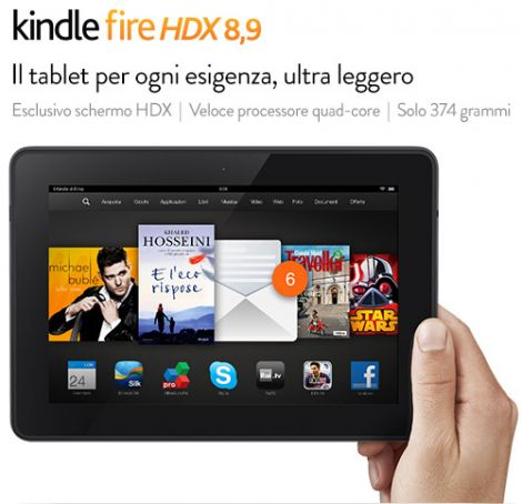 amazon kindle fire hdx italia