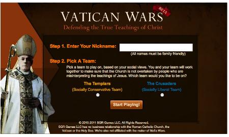 Vatican Wars Facebook Templari Crociati papa