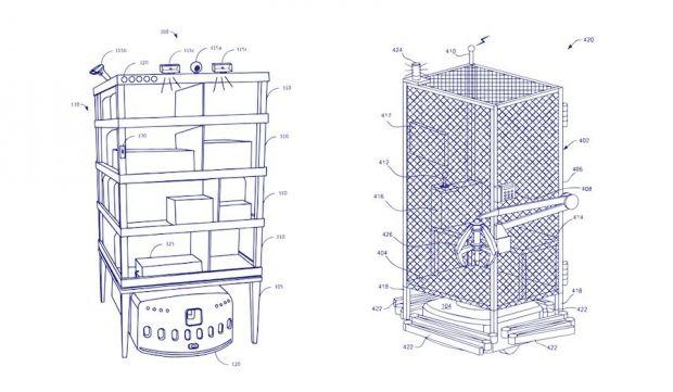 amazon brevetto gabbia lavoratori