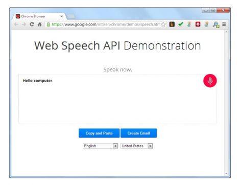 Chrome Web Speech API