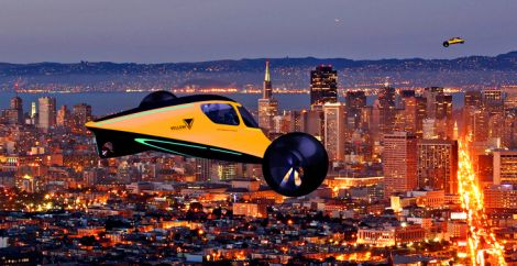 La city car elettrica che diventa un aereo