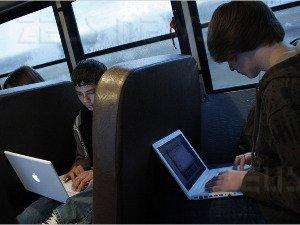 Autobus Wi-Fi scuola Vail Arizona studenti