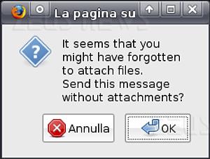 Gmail Labs allegati dimenticati