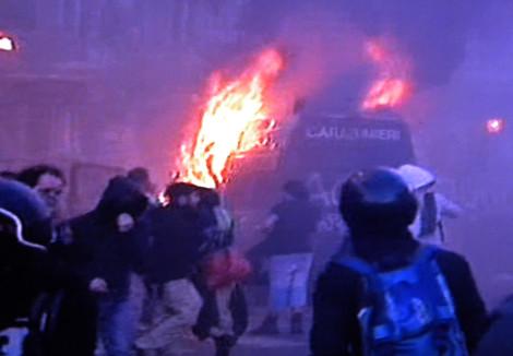 black bloc piazza san giovanni