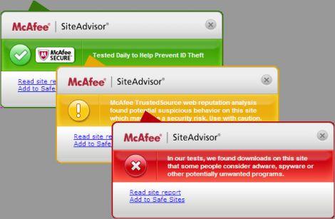 siteadvisor blocca pirateria