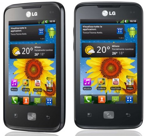 LG Optimus Hub Android 2.3