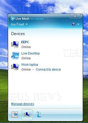 Microsoft Live Mesh collega Pc e cellulari
