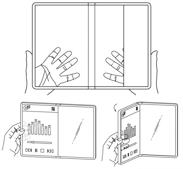 lg smartphone trasparente pieghevole