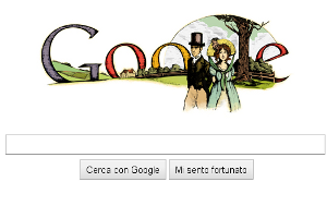 Google doodle Jane Austen 235 anni nascita