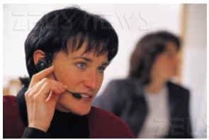 Un'operatrice di call center