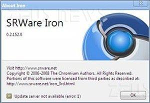 Iron Google Chrome privacy