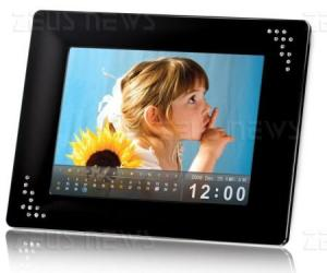 La cornice digitale touch-screen PF810 di Transcen