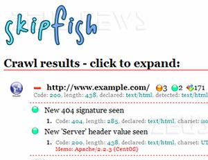 Skipfish Google vulnerabilità web application