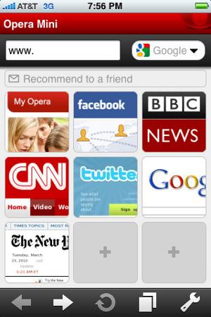 Opera Mini 5.0 Apple iPhone iTunes Store