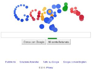Google Doodle animato palline colorate 12 anni