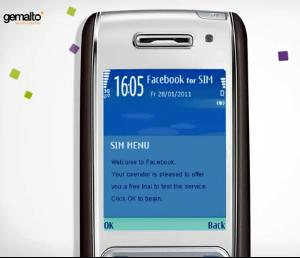 Gemalto Facebook for SIM senza piano dati SMS