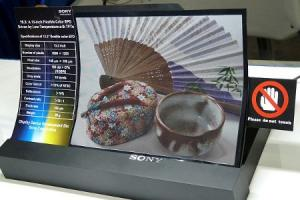 Sony color e-paper flessibile
