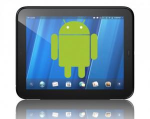 Touchdroid cyanogenmod android touchpad hp porting