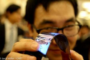Samsung flexible AMOLED display CES