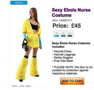 FAKE ebola sexy suit