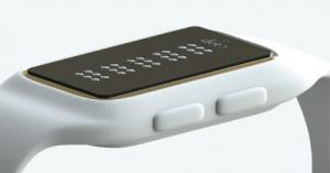 The Dot Braille smartwatch white