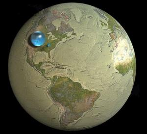 global water volume fresh large